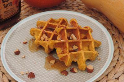 Pompoen havermout wafels  Gezond ontbijten in de herfst
