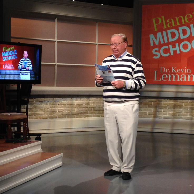 Dr. Kevin Leman visit 100 Huntley Street (Nov. 2015) to do 2 interviews and 5, 2-minute teaching segments on his book, Planet Middle School.