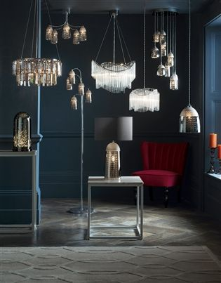 Buy Bellagio 5 Light Smoke And Mink Chandelier from the Next UK online shop