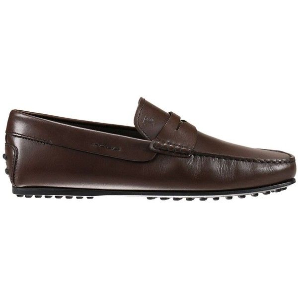 Tod's Mocassins & Boat Shoes ($310) ❤ liked on Polyvore featuring men's fashion, men's shoes, men's loafers, dark, mens boat shoes, mens deck shoes, mens loafers boat shoes, tods mens shoes and mens moccasins shoes