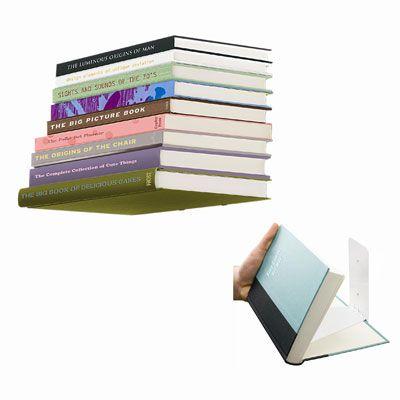 Umbra Invisible Floating Book Shelf White