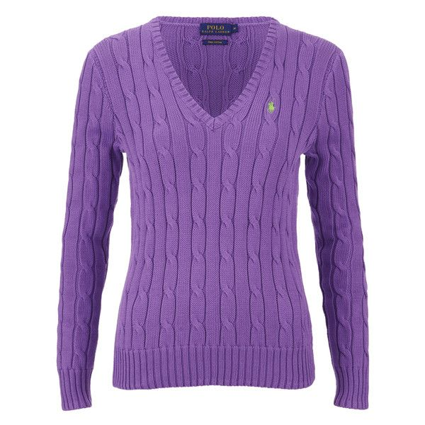 Polo Ralph Lauren Women's Kimberly Jumper - Laguna Purple (3.820 RUB) ❤ liked on Polyvore featuring tops, sweaters, purple, purple polo sweater, jumper top, polo jumpers, jumpers sweaters and polo tops