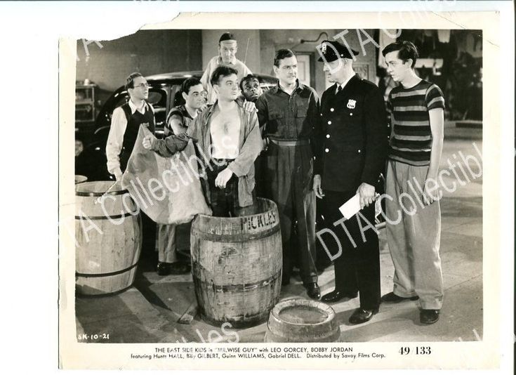MR. WISE GUY-8X10 STILL-1949-COMEDY-LEO GORCEY-HUNTZ HALL-DAVID GORCEY G/VG