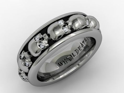 17 best ideas about Skull Wedding Ring on Pinterest Gothic rings