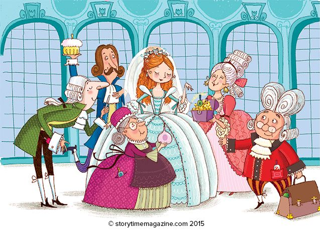 The princess has broken her fingernail - oh no! A fun poem for Storytime Issue 9, illustrated by Barbara Bongini (http://www.childrensillustrators.com/illustrator-details/BBongini/id=2343/) ~ STORYTIMEMAGAZINE.COM