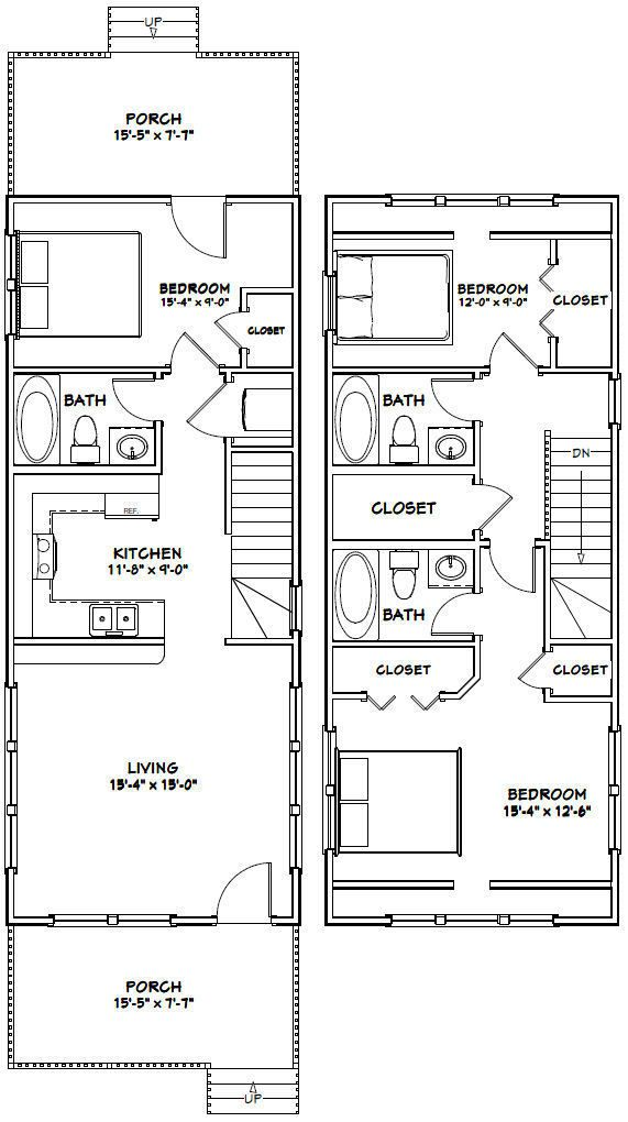16X40 HOUSE -- 1,193 sq ft -- PDF Floor Plan -- Model 1