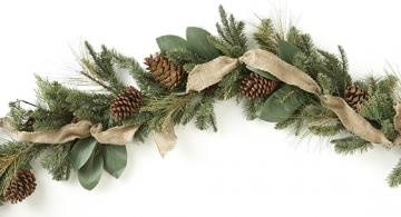 NOTHING says Christmas is here than REAL Pine Garlands.....no fake trees or garland...yuck!
