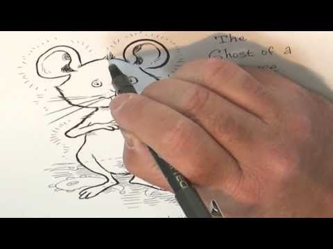 How to draw a mouse (a ghostly mouse) with Chris Riddell