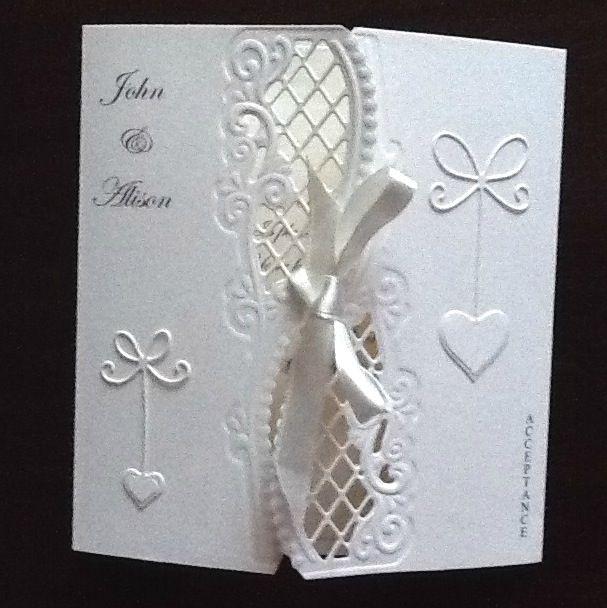 Anja side die wedding acceptance card.
