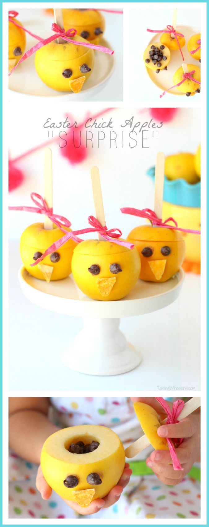"Easter Chick Apples ""Surprise"" 
