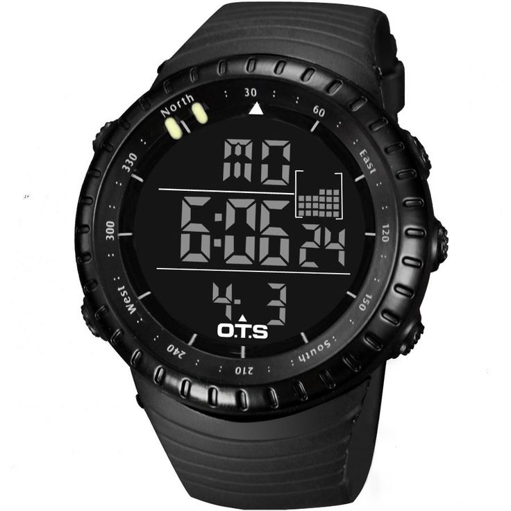 OTS Outdoor Waterproof Large Dial Sports Digital Watches Men's Fashion 50M Professional Swimming Luminous LED Light Wristwatches