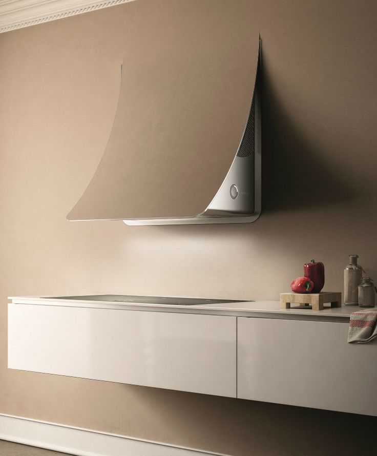 Wall-mounted steel cooker hood NUAGE by Elica | #design Fabrizio Crisà @elicarianuova