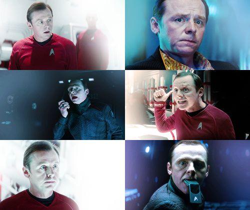 Simon Pegg as Montgomery Scott