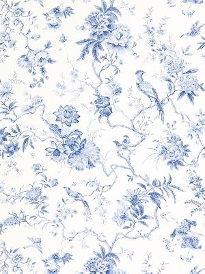 Blue china wallpaper - maybe for out bedroom! From Sanderson