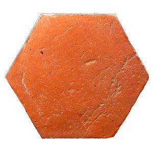 Photo of hexagonal red handmade cotto tile by Dryland | Drylanditaly.com