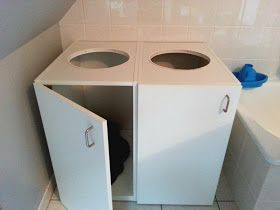 IKEA Hackers: Laundry organizer from kitchen cabinets