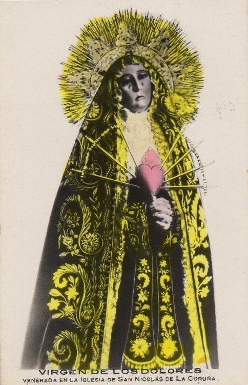 Our Lady of Seven Sorrows in the church of San Nicolás, La Coruña, Spai