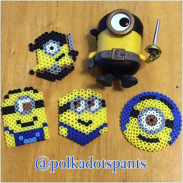 Minions perler beads by polkadotspants