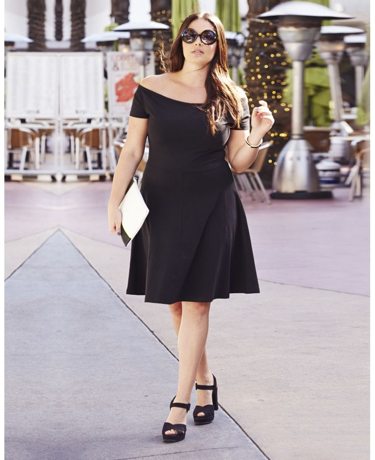 Bardot Skater Dress - Simply Be (sizes 8-28)