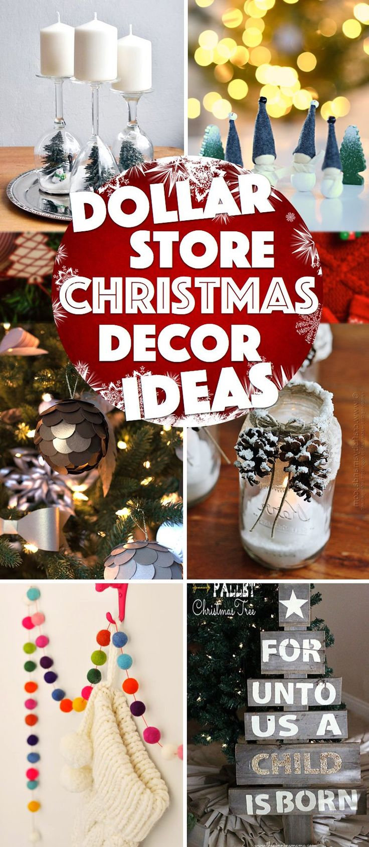 Diy christmas party decorations - 39 Oh So Gorgeous Dollar Store Diy Christmas Decor Ideas To Make You Scream With Joy