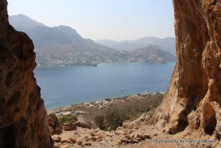 Views out of the Caves on the island of Telendos  http://www.discoveringkos.com/2013/12/views-out-of-caves-on-island-of-telendos.html