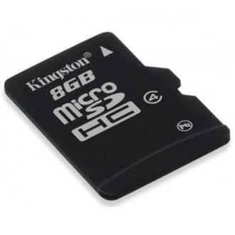 KINGSTON Karta Pamięci microSDHC 8GB bez adaptera Karta pamięci microSDHC o pojemności 8 GB. Karty pamięci microSDHC zapewniają większe przechowywanie - więcej muzyki, filmów, zdjęć, gier - więcej wszystkiego, co potrzebne w dzisiejszym mobilnym świecie.