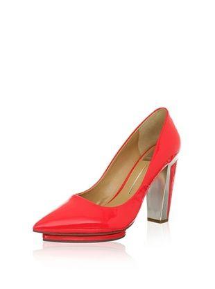 60% OFF Dolce Vita Women's Serell Platform Pump (Cherry Patent Leather)