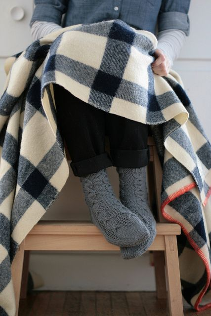 blanket + socks