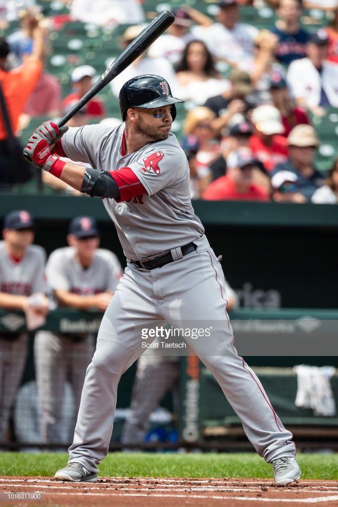 Steve Pearce Of The Boston Red Sox At Bat Against The Baltimore Boston Red Sox Red Sox Major League Baseball
