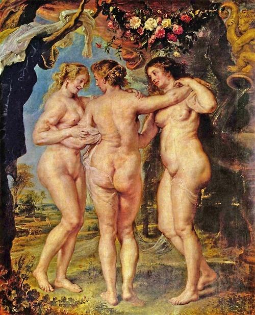 Rubens, Las tres Gracias 1636 - 1639 ¿Cuál de las tres es la segunda mujer de Rubens?