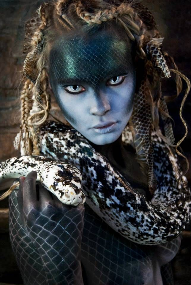Photography by: Niki Lazaridou - Freelance Photographer Model: Anna Aleksandra Jonynas MUA: Makeup by Anastasia Vladi Hair Styling: Hair by Christine Cassola Snakes Distributor: New England Reptile
