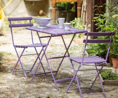 arc en ciel folding chair and table from emus outdoor classic range