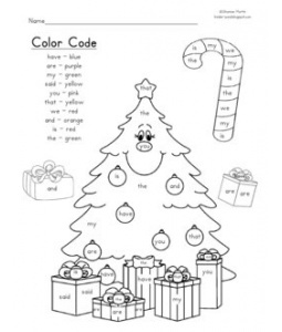 teaching literacy sight word coloring page