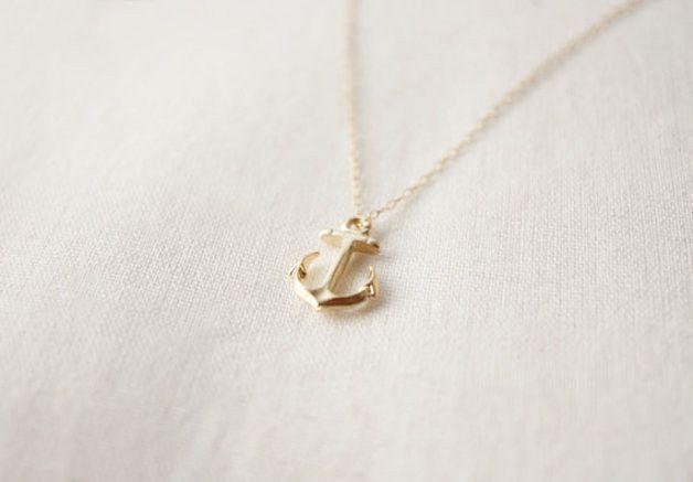 Anchor Necklace, gold