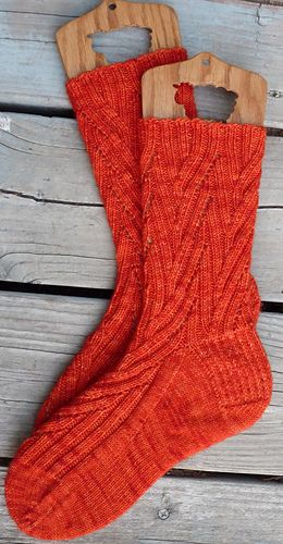 Coriolis Effect - Very Busy Monkey (knitterpatter's version) #socks #knit