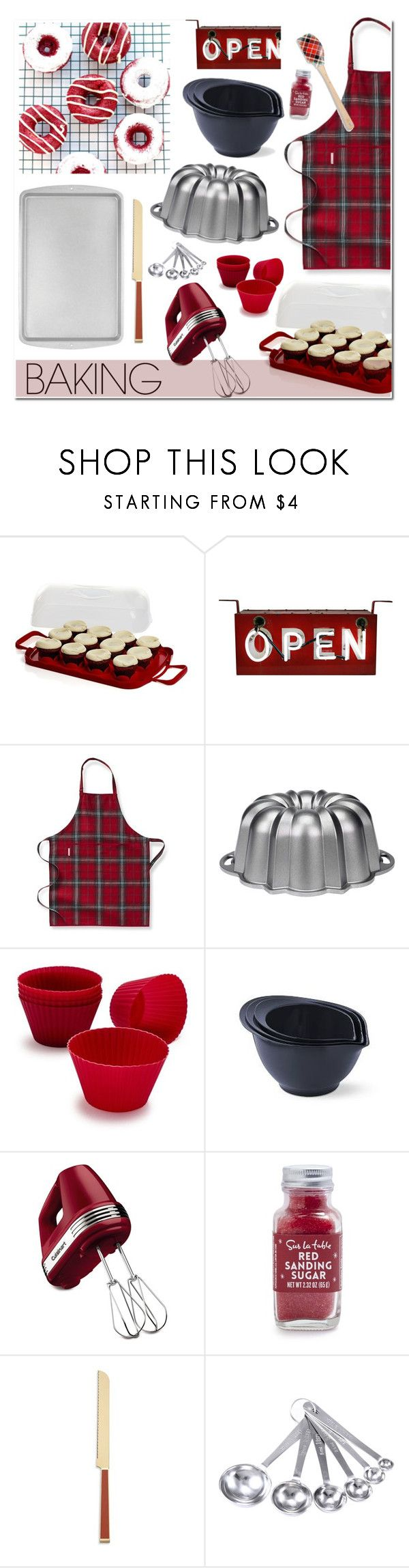 """#baking"" by hellodollface ❤ liked on Polyvore featuring interior, interiors, interior design, home, home decor, interior decorating, Crate and Barrel, Williams-Sonoma, Nordic Ware and Sur La Table"