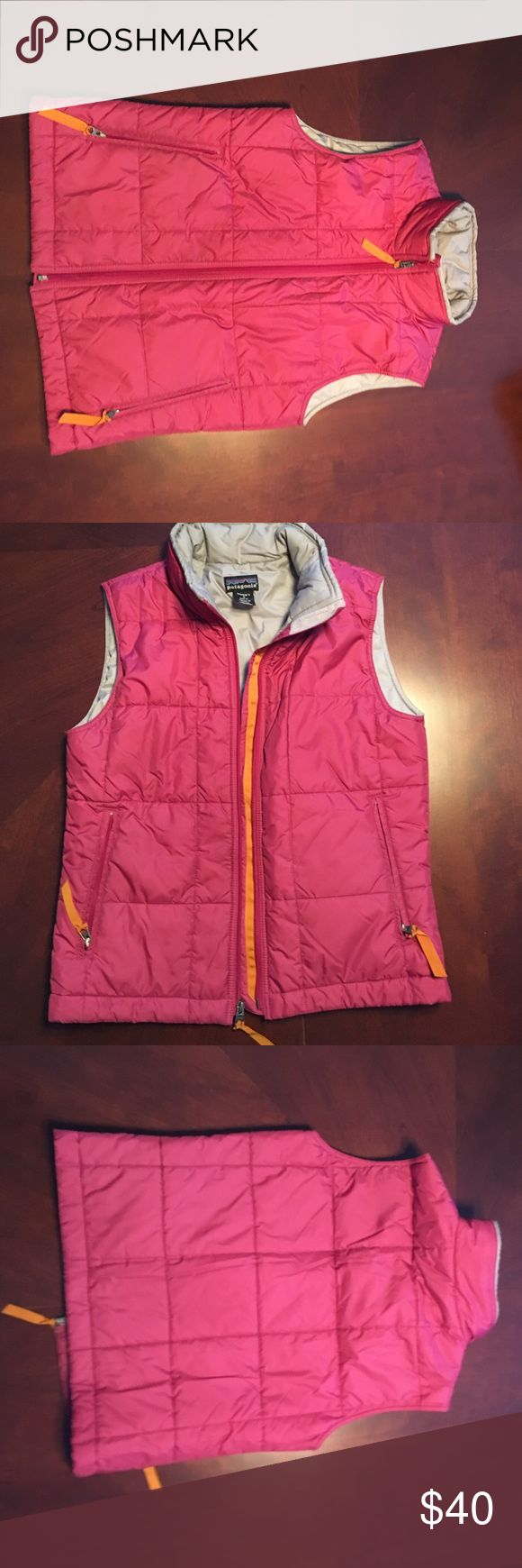 Patagonia vest Pink vest with orange accents. Size small in excellent condition . Patagonia Jackets & Coats Vests