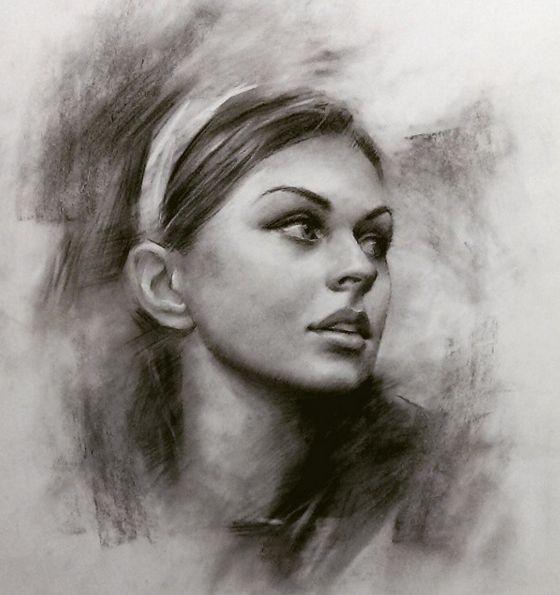 Portrait Sketches by American Artist Romel de la Torre