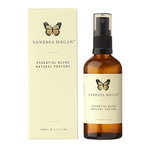 Essential Blend - Natural Perfume (100ml) This natural perfume contains essential oils of ylang ylang, patchouli, lavender and geranium. The scent of the natural perfume gets even better with age.