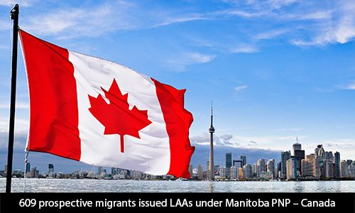 609 prospective #migrants issued LAAs under Manitoba PNP – #Canada   If your are planning for Canada. Send your Resume to visa.morevisas@gmail.com