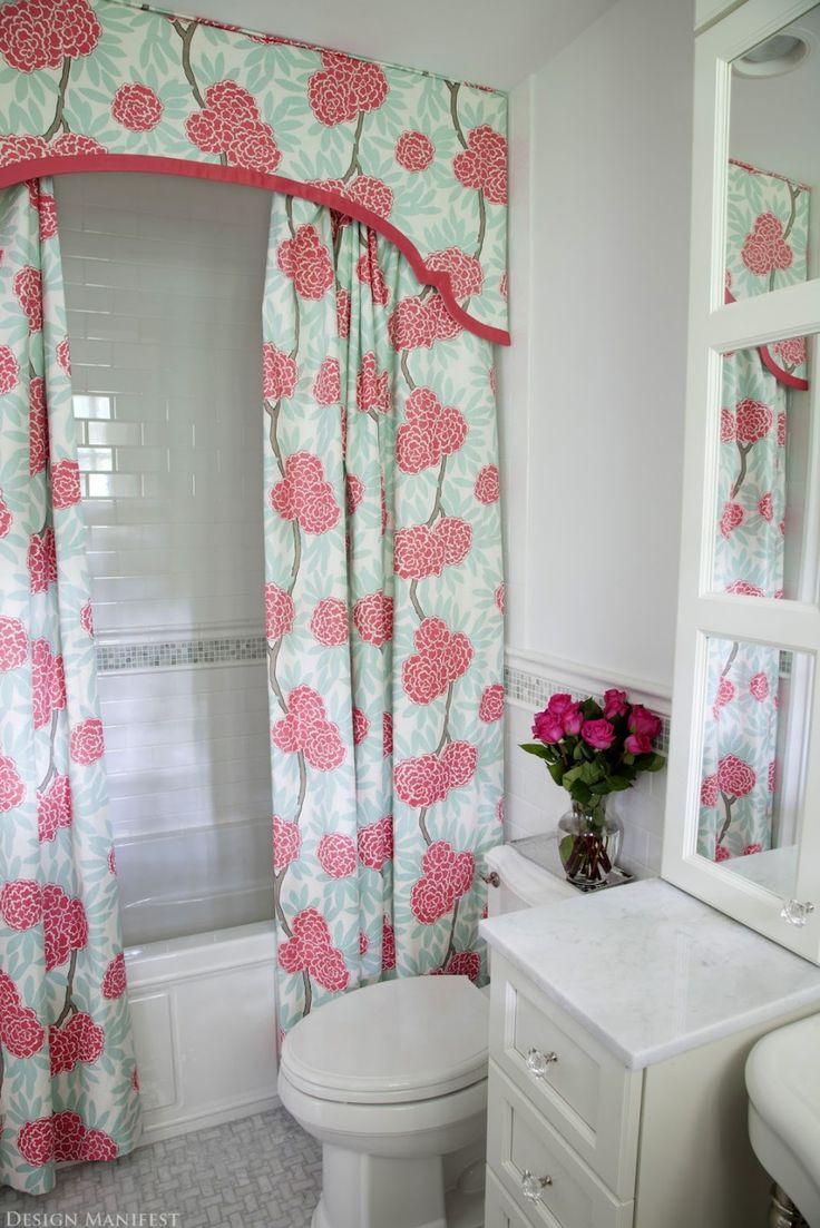 Marvelous Bathroom Decoration Ideas Using Shower Curtain With Valance Radiant Light