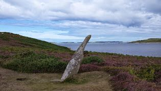 The Old Man of Gugh - Looking out from Gugh across the inner sound of the Scilly Isles towards St Mary's, this has stood since the Bronze Age