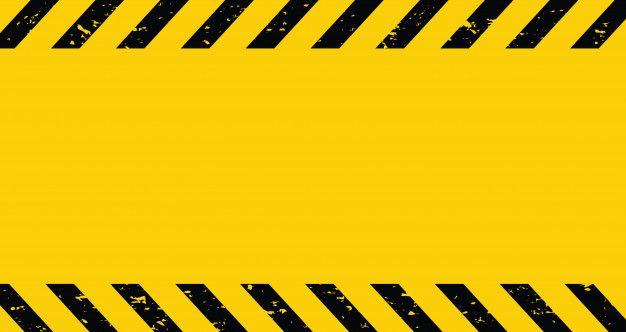 Fita Adesiva Preta E Amarela Fundo De Aviso Em Branco Caution Tape Black N Yellow Construction Signs Printable