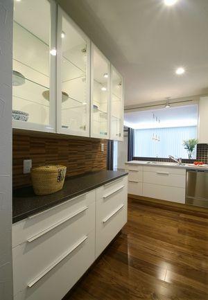 IKEAキッチンオーダー食器棚の事例。松戸市リフォーム。L160cm カップボードIKEA