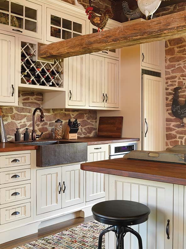 The copper farmhouse sink by Native Trails adds texture featured in @oldhouseonline .