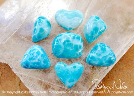 Larimar is also known as the Dolphin stone, because of its watery energy, which brings the tranquility of the ocean to the heart and mind. Larimar represents peace and clarity, it radiates healing and loving energy.