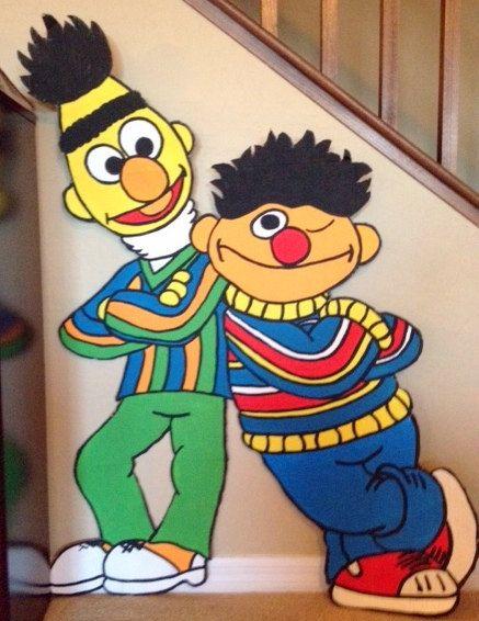 One Sesame Street Character Party Prop Bert & Ernie