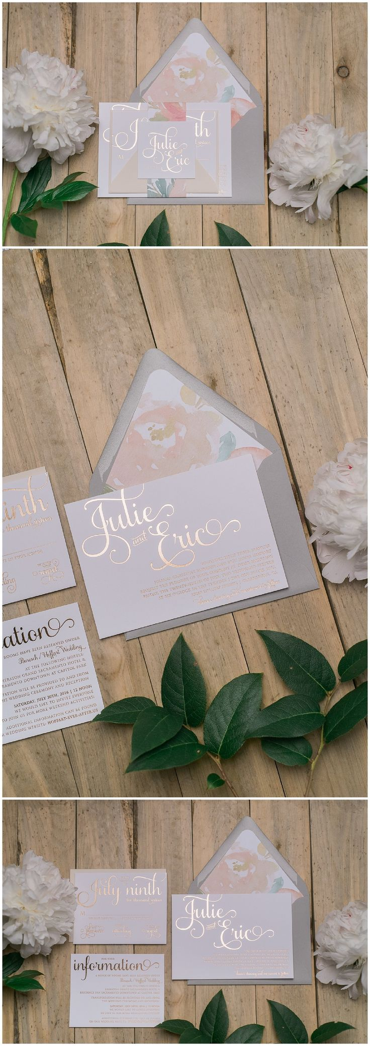summer wedding invitation wording%0A Real Wedding  Julie and Eric  Floral Wedding StationerySummer Wedding  InvitationsWedding