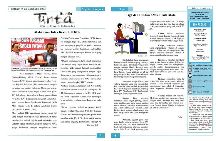 Buletin Tinta Edisi 24, 29 April 2016