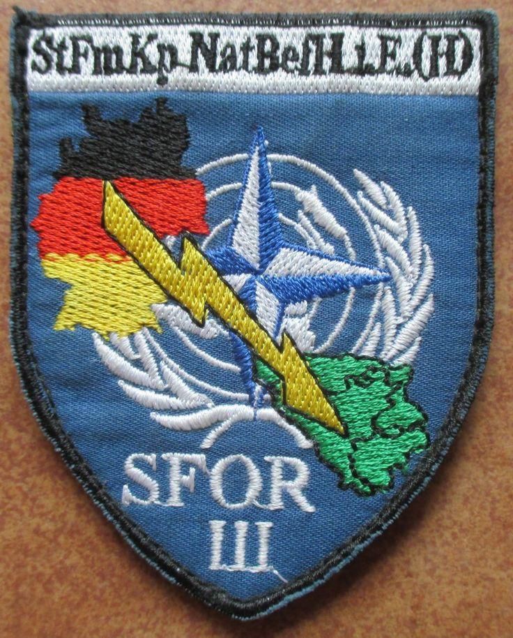 StFmKp nat.BefH i.E Raijlovac SFOR III KLETT Patch Abzeichen Badges